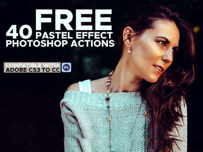 40 Free Pastel Effect Photoshop Actions screenshot