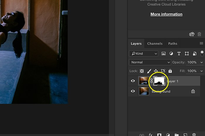 A screenshot showing how to edit Levitation Photography in Photoshop