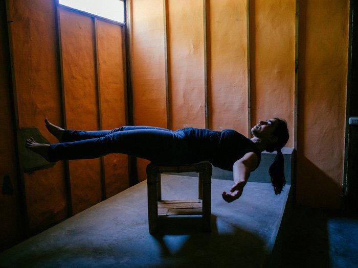 The setup for a cool levitation photography portrait