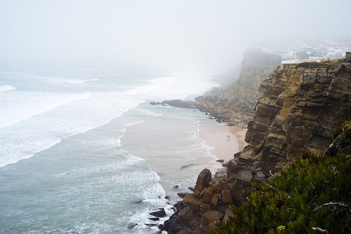 使用lightroom消失的沿海景观的大气画象