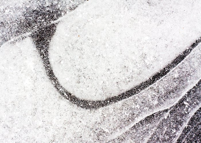 Abstract macro shot of patterns in ice - macro photography examples