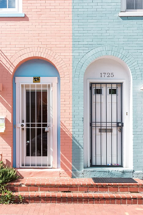 Artistic photo of two doorways