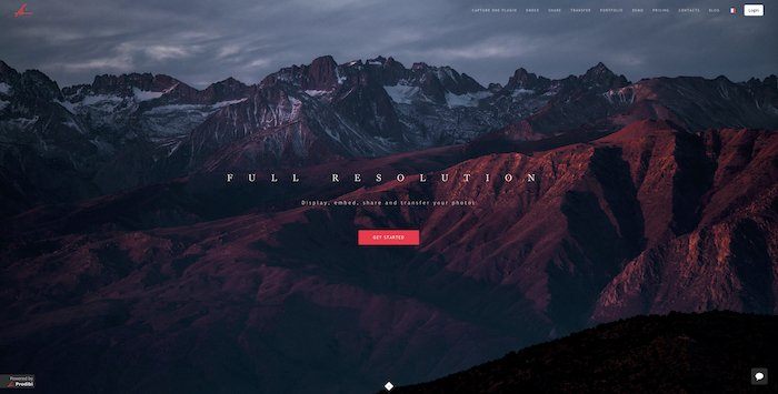 a screenshot of Prodibi website - photography business tools