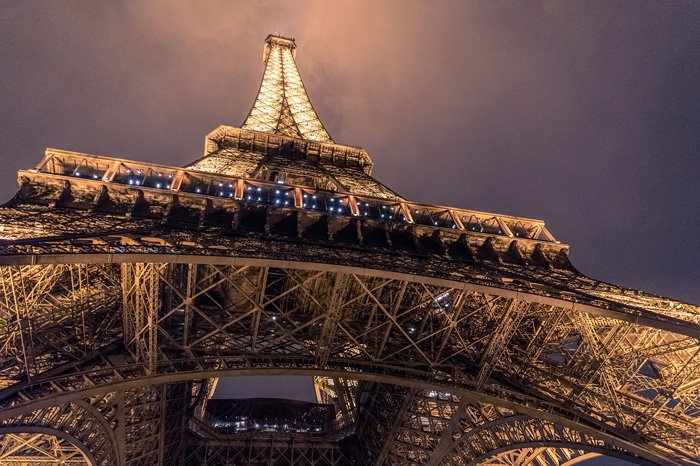 A view from underneath the eiffel tower - best photography museum