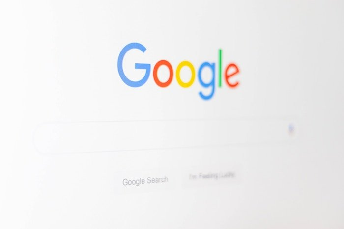 a screenshot of google search page