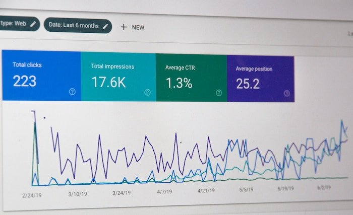 a screenshot of google analytics seo for photography