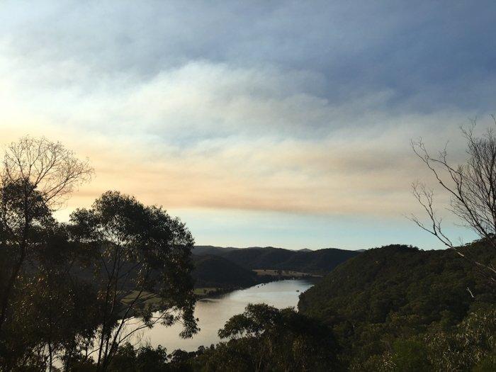 a stunning evening landscape over a river - smartphone landscape photos