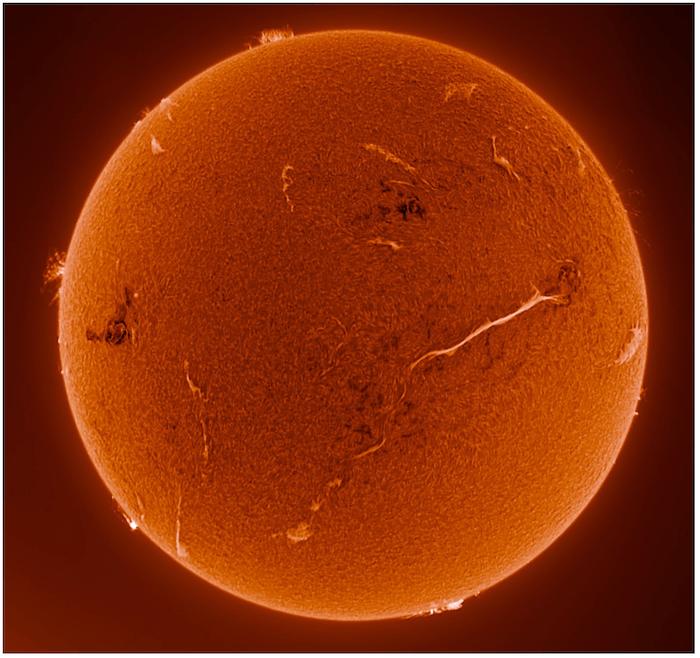 The Sun in H-alpha.
