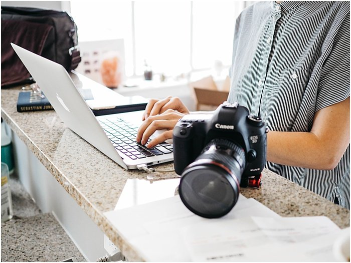 a professional photographers home office - portrait photography pricing