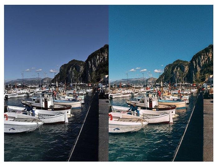 双联海滨景观显示海伦在之间的免费Lightroom预设