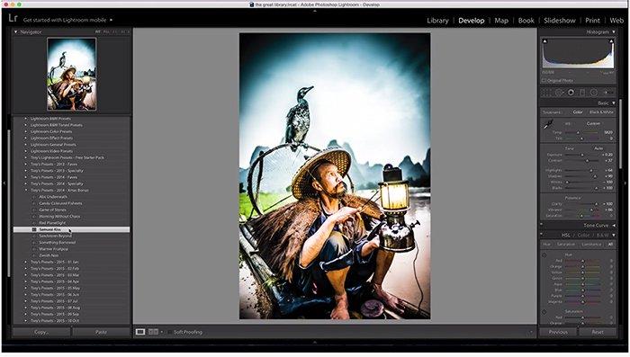 使用Trey Ratcliffs Free Lightroom预设的屏幕截图