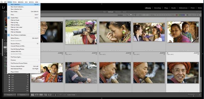 a screenshot showing how to create a Lightroom slideshow