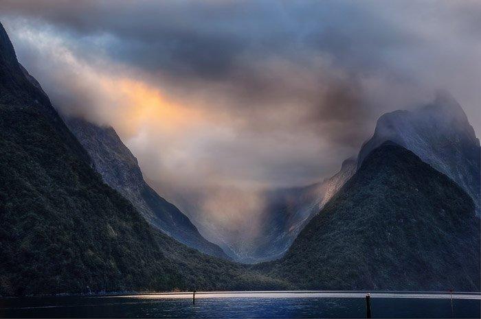Mitre Peak in Fiordland.New Zealand photography