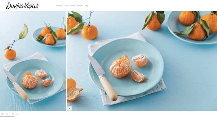 Bright and airy food photography diptych