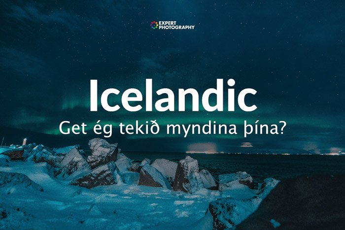 how to say can i take a picture in Icelandic