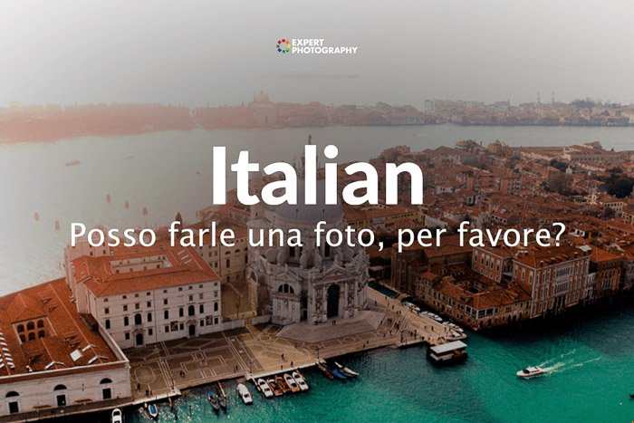 how to say can i take a picture in Italian