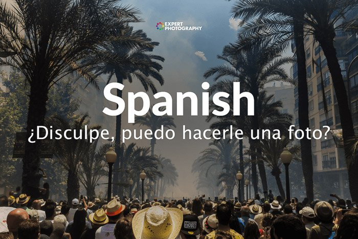 how to say can i take a picture in Spanish