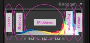 a screenshot showing how to interpret a color histogram