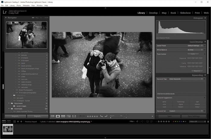 显示如何在Lightroom中翻转图像的屏幕截图