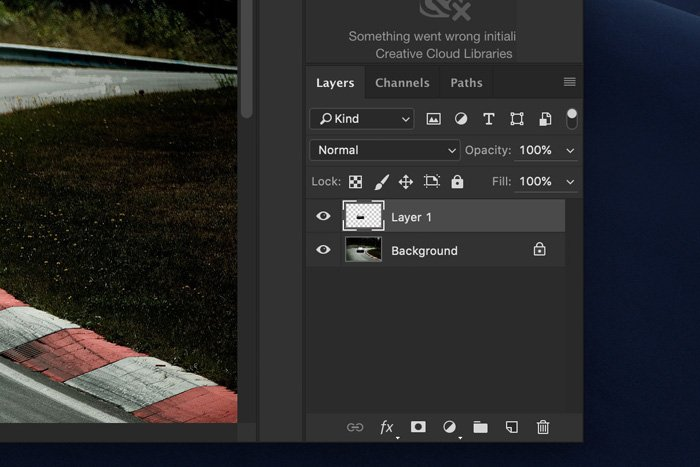 a screenshot showing how to add motion blur in Photoshop