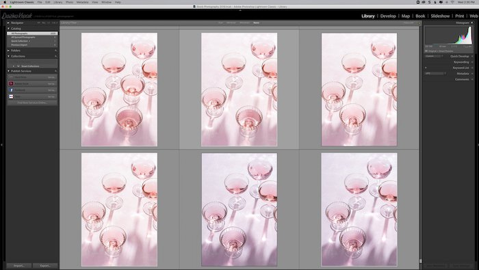 a screenshot showing how to search for keywords in Lightroom - lightroom mistakes