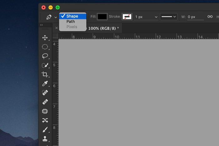 A screenshot showing how to create your own custom shape in photoshop