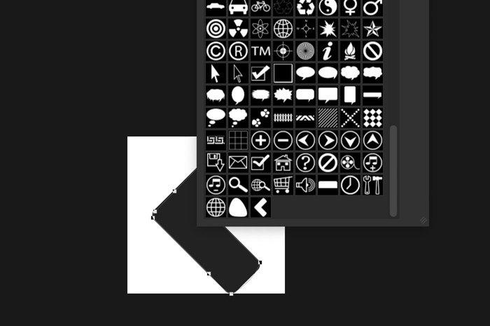 a screenshot showing how to create a custom shape in Photoshop
