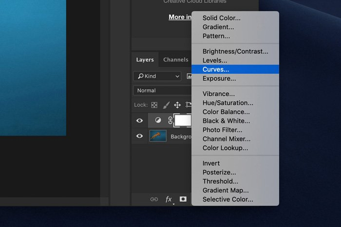 a screenshot showing how to edit underwater images in Photoshop
