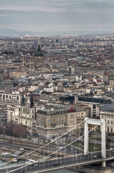 an impressive cityscape in Budapest, Hungary