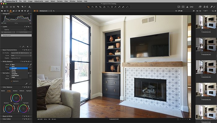 Screenshot of Capture One color tab