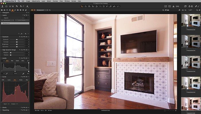 Screenshot of Capture One exposure tab