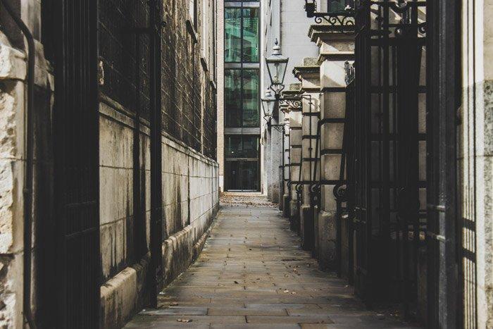 Photo of a narrow street