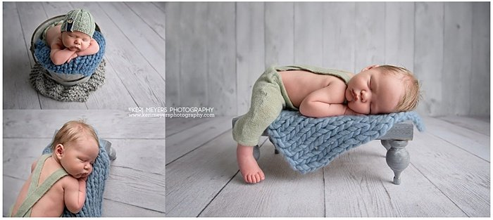 Photo montage of a baby sleeping
