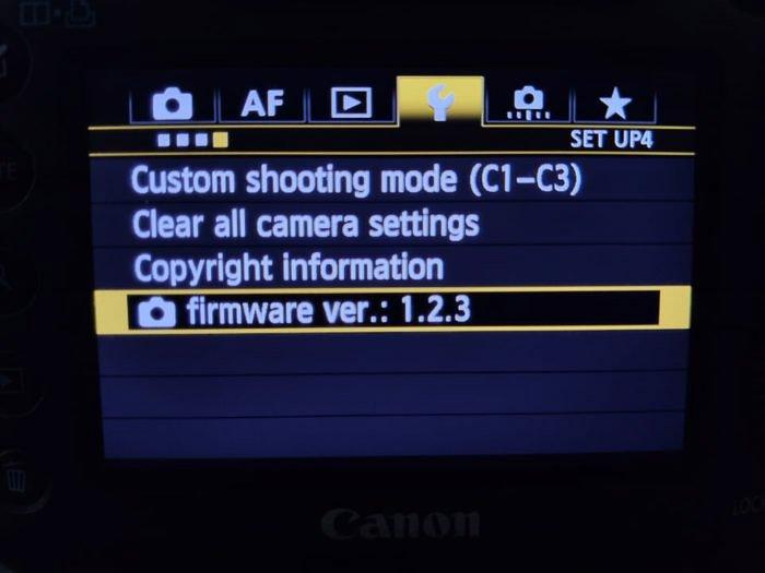 Magic Lantern settings on the Canon DSLR screen