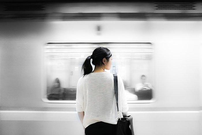 Motion blur photo of a subway
