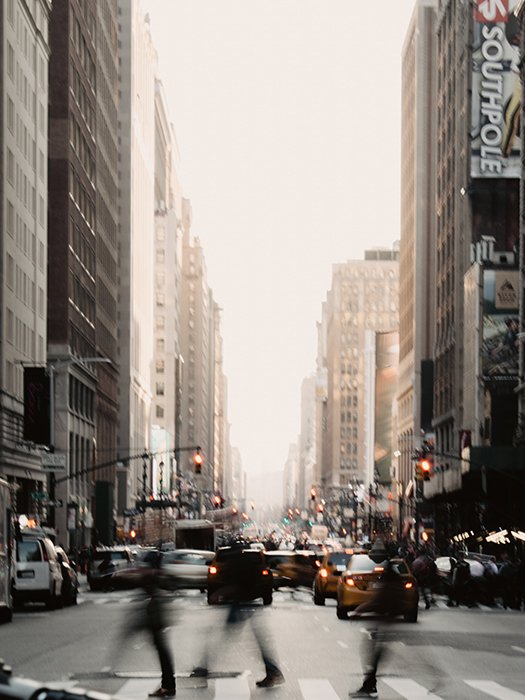 Motion blur photo of city movements