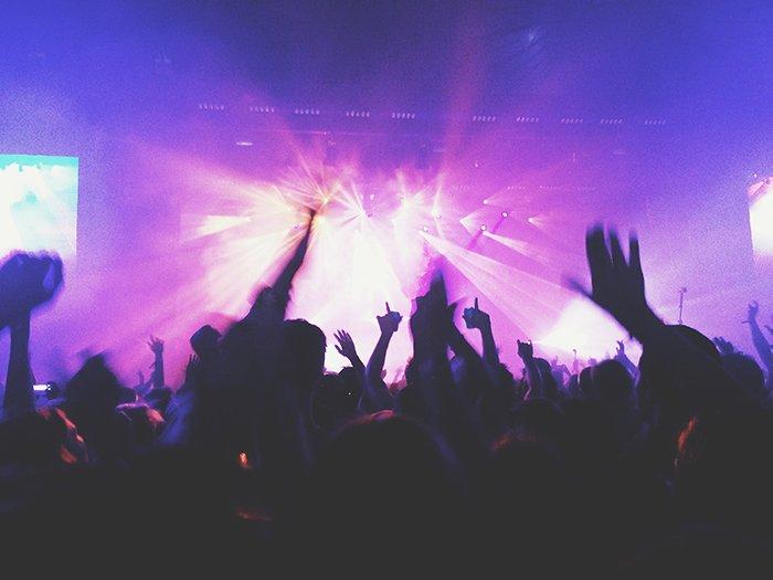 Motion blur photo of a concert