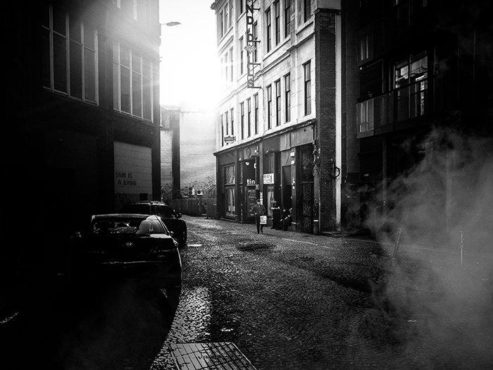 atmospheric monochrome street shot