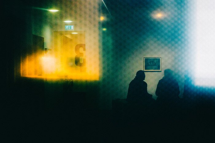Photo of a room shot through a window in landscape format