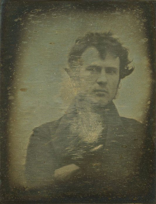 The very first portrait photo ever taken