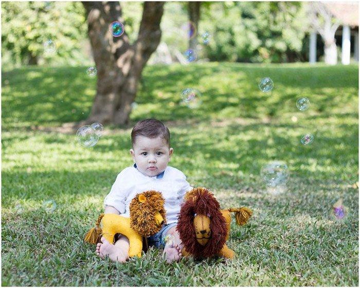 cute portrait of a little boy outdoors