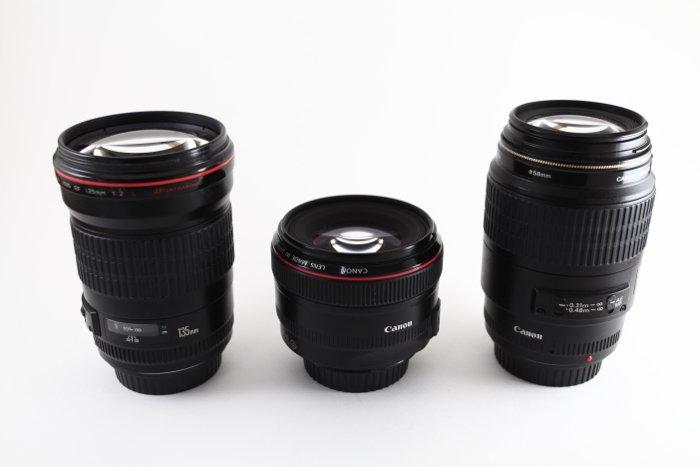 Three lenses for the full-frame cameras