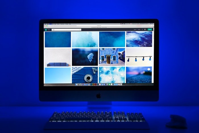 Images on a computer screen