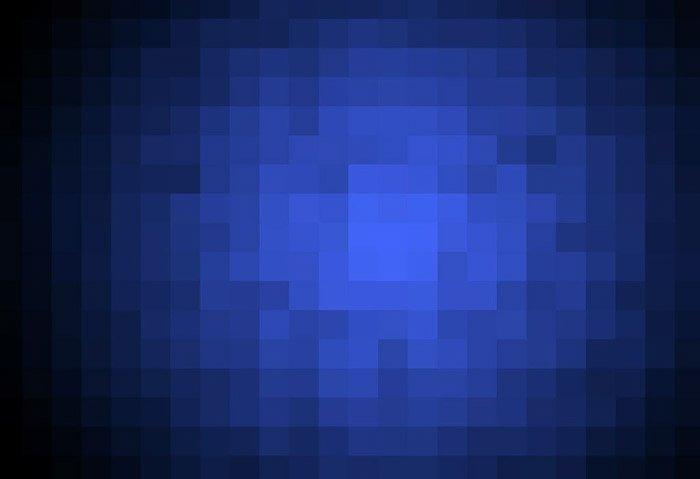 blue pixelated image