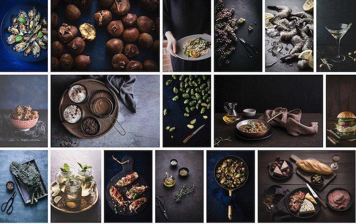 a screenshot from a food photography business website