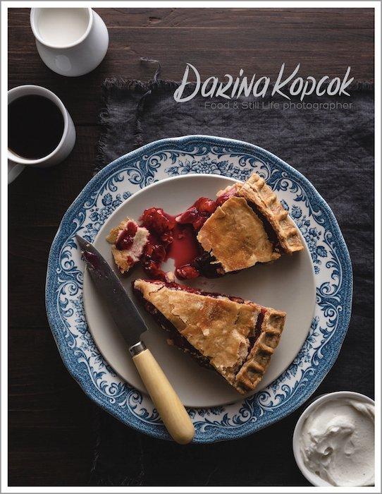 a screenshot of a food photography business website