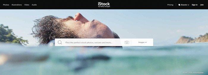 a screenshot of iStock photography website
