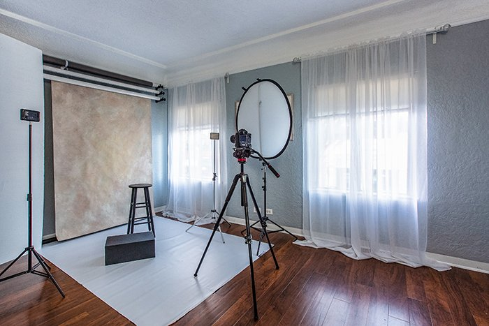 a photography studio setup