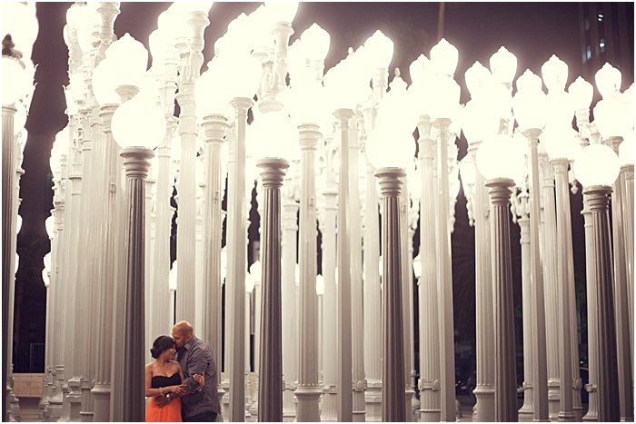 A couple embracing in a beautiful setting