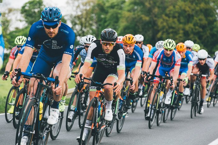 Photo of a group of cyclists at a competition